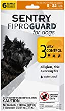 SENTRY Fiproguard for Dogs, Flea and Tick Prevention for Dogs (4-22 Pounds), Includes 6 Month Supply of Topical Flea Treatments