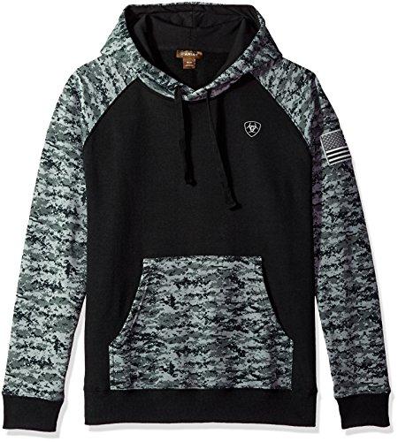 ARIAT Men's Patriot HoodieSweatshirt, Black, LG