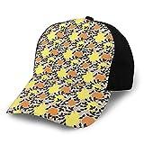 Photo de Hip Hop Sun Hat Baseball Cap,Continuous Lemons Oranges Berries Leaves Pattern,for Men&Women