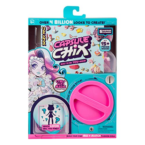 Capsule Chix Ctrl+Alt+Magic Collection, 4.5 inch Doll with Capsule Machine Unboxing and Mix and Match Fashions and Accessories