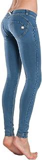1Bests Mujeres Slim Cintura Baja Push Up Jean Pantalón Skinny Bodycon Denim Casual Deporte Yoga Leggings