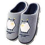 ZusFut Zapatillas Casa Hombre Zapatillas Casa Mujer Calentitas Zapatillas de Casa de Hombre Suela TPR Transpirables Zapatillas Casa Mujer Invierno