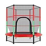 Cama Elastica Infantil Exterior, trampolín para Niños (con Red de Seguridad,A, Φ140cm)