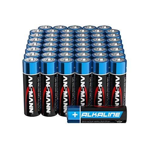 Ansmann Batterien AA Alkaline Größe LR6 - AA Batterie für Spielzeug (48 Stück Vorratspack), Schwarz, Mignon AA, 48 Stück, 1522-0019