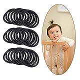 Amycute 100 Stück Elastische Haargummis Stretchable Haargummi für Kinder Mädchen Frauen Haaraccessoires, Haarschmuck, flexibles, Pferdeschwanz Halter für Arbeit Sport Gummiband.