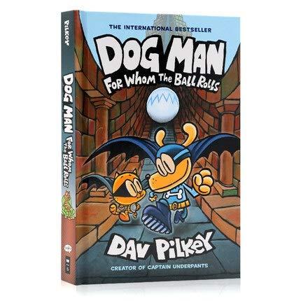 VODVO 1 del Libro del Perro Hombre 7 por quién la Bola Rueda Inglés Kids Niño hilarante Humor del Color Nueva del Cuadro Manga del cómic New Age 3 hasta