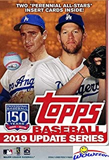 2019 Topps Update MLB Baseball EXCLUSIVE HUGE 67 Card Factory Sealed HANGER Box with (2) PERENNIAL ALL-STAR Inserts! Look for RC & AUTOS of Vladimir Guerrero Jr, Fernando Tatis Jr & More! WOWZZER!