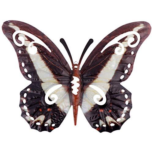 Cabilock Mariposa Decoración Metal Mariposa Adornos de Arte de Pared para Interiores Y Exteriores Baño Dormitorio Sala de Estar Jardín Patio Esculturas de Pared Negro