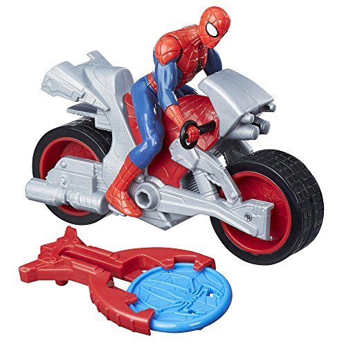 Marvel Spiderman - Figura de Vehiculo Blast & Go Spider Man, B9994
