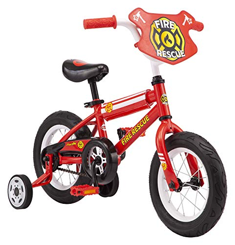 Pacific Fire Rescue Character Kids Bike, 12-Inch Wheels, Ages 3-5 Years, Coaster Brakes, Adjustable Seat, Red, One Size