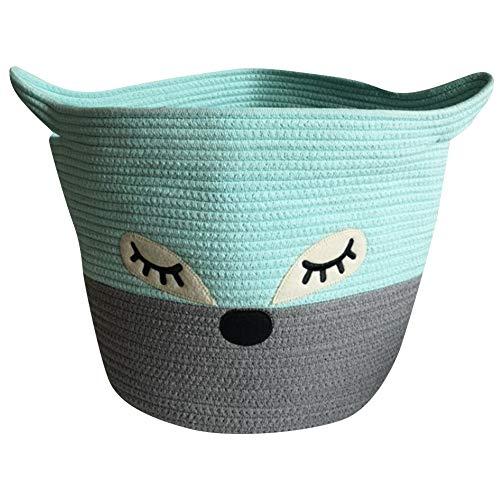 Beyda - Cesto portaoggetti in corda di cotone, per riporre giocattoli, grande cestino decorativo per organizzare
