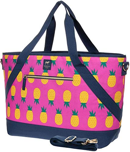 Dabney Lee Insulated 22'x14' Picnic Tote Bag (Pink Pineapple)