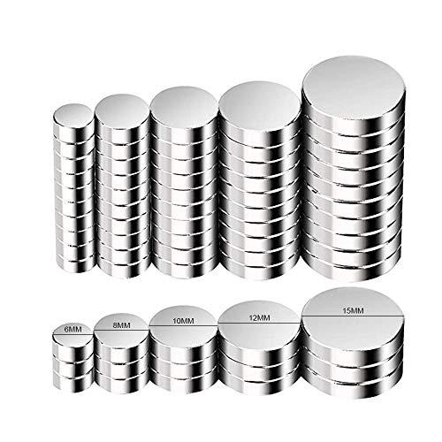 Magneti Piccoli,FEYG MiNi Magneti Neodimio 8X3mm In Neodimio e Terre Rare Supermagnete al Magnete permanente Calamita ultra forte per artigianato e decorazioni (100pc) (5Size-50pc)