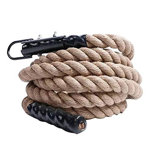 Kletterseil Manila Kletterseil Power Rope mit Haken Kletterübungshanf Climbing Rope Fitness Rope 38 mm Durchmesser Klettertau Schaukelseil-4.5m