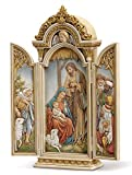 Joseph's Studio by Roman - Nativity Triptych, Renaissance Collection, 12.75' H, Resin and Stone, Religious Gift, Decoration