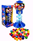 PlayO 10.5' Spiral Gumball Machine Toy Bank - Dubble Bubble Spiral Style Includes Aprox 40 Gum Balls - Kids Prizes (Blue...
