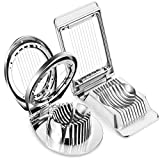 2 Pieces Egg Slicer Multipurpose Stainless Steel Wire Egg Slicer Cutter Aluminum Egg Slicer Mushroom Slicer for Slicing Hard Boiled Eggs