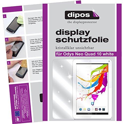 dipos I 2X Schutzfolie klar kompatibel mit Odys Neo Quad 10 White Folie Bildschirmschutzfolie