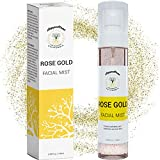 Hydrating Gold Facial Spray Mist with Aloe, Herbs and Rosewater - Alcohol-Free Toner for Face by Doppeltree - Formulated in San Francisco