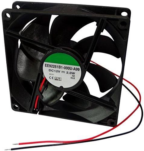 AERZETIX: Ventilador para PC Ordenador de sobremesa 12V 92x92x25mm 87,55m3/h 34dBA 3000rpm 28AWG