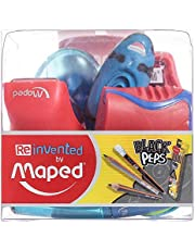 Maped Black Peps Sharpener - 9 Pieces,Multi Color