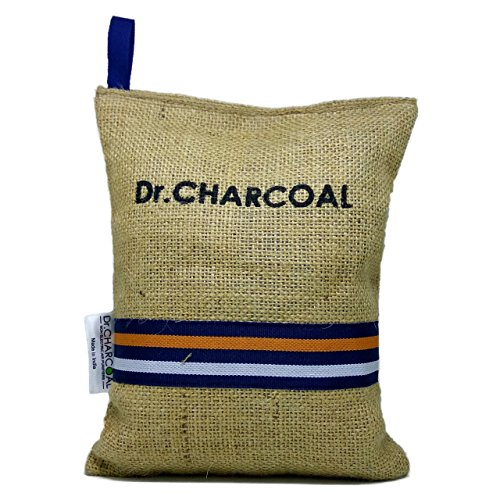 Dr. CHARCOAL Non Electric Air Purifier, Deodorizer and Dehumidifier for Living Room, Kids Room, Bedroom, Pet Areas (500g, Modish Khaki)