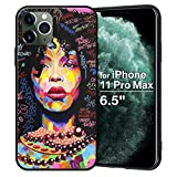 XIX iPhone 11 Pro Max Case African American Afro Girls Women Slim Fit Shockproof Bumper Cell Phone Accessories Thin Soft Black TPU Protective Apple iPhone 11 Pro Max Cases (01)