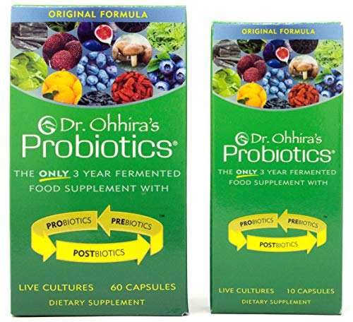 Dr. Ohhira's Probiotics, Original Formula, 60 Caps with Bonus 10 Capsule Travel Pack - 12 Live Strains