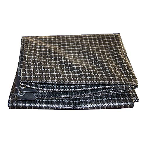 Giow wasserdichtes Sonnensegeltuch aus Poncho, strapazierfähig, langlebig, für LKW, Transport, Farbe: Schwarz + Weiß, Größe: 3 x 3 m 5*8m Black+white