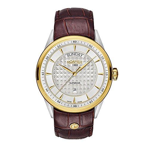 ROAMER Herren Analog Quarz Uhr mit Leder Armband 508293 47 15 05