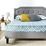 ZINUS Kellen Upholstered Scalloped Platform Bed Frame / Mattress Foundation / Wood Slat Support / No Box Spring Needed / Easy Assembly, King