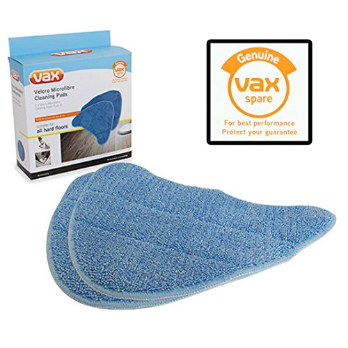 Vax Genuine Total Home Master Plus + Steam Cleaner Mop Microfibre Cleaning Pad Covers (Pack of 2)