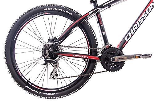 CHRISSON 26 Zoll Mountainbike Hardtail - Altero 1.0 schwarz - Hardtail Mountain Bike mit 24 Gang Shimano Acera Kettenschaltung - MTB Fahrrad für Herren und Damen Suntour Federgabel - 4