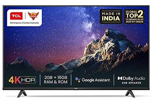 TCL 108 cm (43 inches) 4K Ultra HD Certified Android Smart LED TV