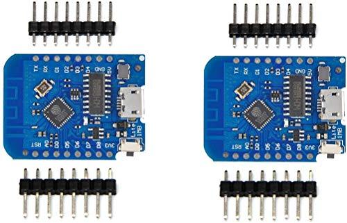 ICQUANZX 2pcs Wemos D1 Mini Placa de Desarrollo ESP8285 V1.0.0 1MB Flash Lite Wireless WiFi Placa de Desarrollo de Internet Wemos D1 Mini ESP8285