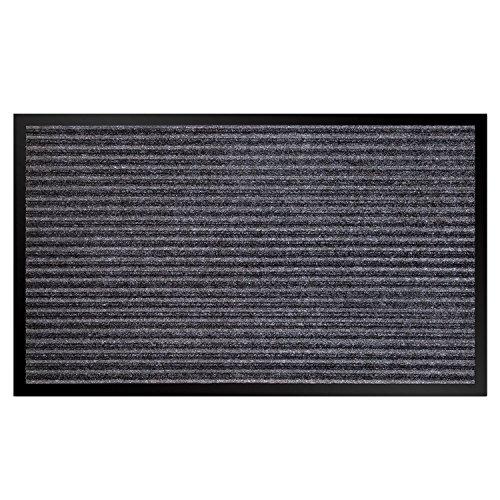 Leefrei Paillasson lavable pour l'intérieur et l'extérieur Gris 50 x 80 cm