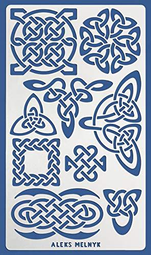 Aleks Melnyk #37.3 Schablon/Metall Stencil Vorlagen for Painting/Keltischer Knoten/1 Stück/DIY Kunst Projekte/Stencil für Scrapbooking und Zeichnen/Brandmalerei Schablon/Basteln