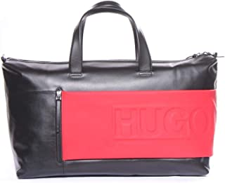 Hugo Boss Men's Hero_Holdall 100% Cow skin Travel Bag Bags