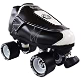 VNLA Junior Tuxedo Jam Skates - Indoor Unisex Roller Skates for Tricks and Rhythm Skating - Black/White (Men 7 / Women 8)
