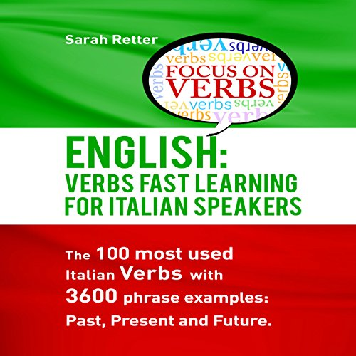 English: Verbs Fast Track Learning for Italian Speakers audiobook cover art