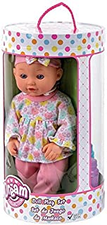 Family Games Dream Collection 12 Inch Doll Play Set Fun,Creative,Learning, with Girl Doll Clothes and Feeding Accessories ...