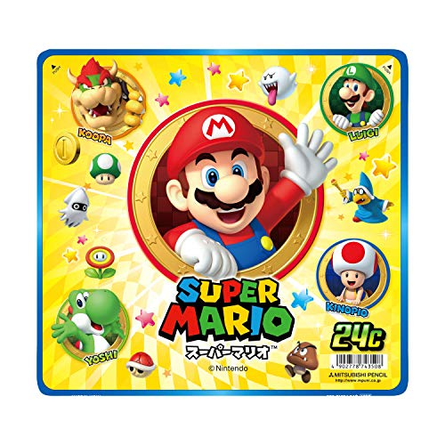24 color set Super Mario K88024CMPW Mitsubishi Pencil colored pencil (japan import)