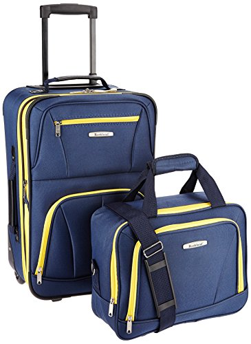 Rockland Fashion Softside Upright Luggage Set, Navy, 2-Piece (14/20)