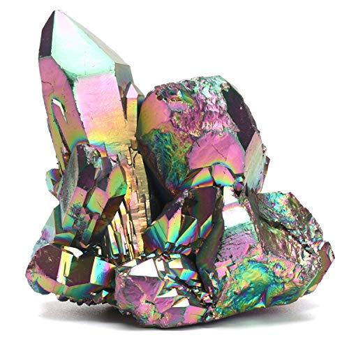 Yuquanxin Natural De Cuarzo Único Cristal De Piedra Irregular Colorido del Arco...