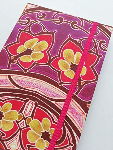 Notizbuch Tagebuch Kladde Hardcover A5 stoffbezogen'Art Nouveau' 190 Seiten 80gPapier blanko Motiv...