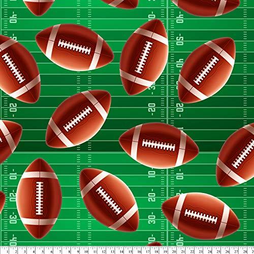 Super Football Cotton Fabric by The Yard, 1 Yard Precuts