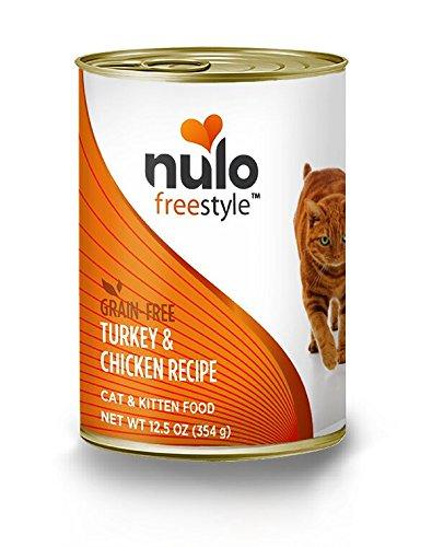 Nulo Adult & Kitten Grain Free Canned Wet Cat Food (Turkey & Chicken Recipe, 12.5 Oz, Case Of 12)