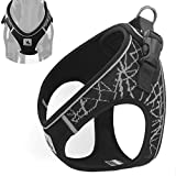 YIEPAL No Pull Step in Dog Harness for Small Dog Comfort Soft Padded Puppy Vest Harness Adjustable Reflective No Choke Easy Put on Harness for Dog, Extra Small, Grey