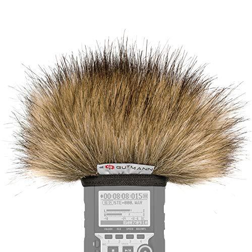 Gutmann Mikrofon Windschutz für Olympus LS-14 Premium Edition Wolf mit Innenfutter