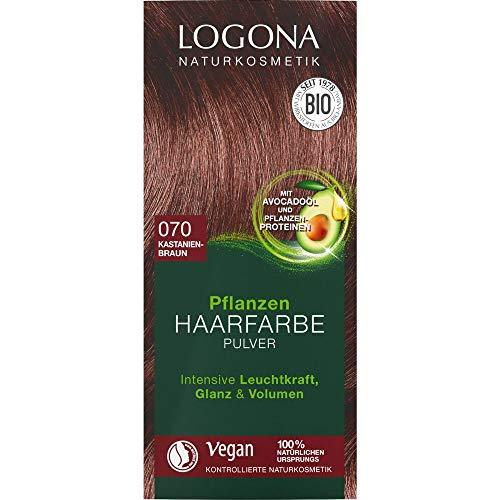 Logona Pflanzen-Haarfarbe-Pulver kastanienbraun (100 g)